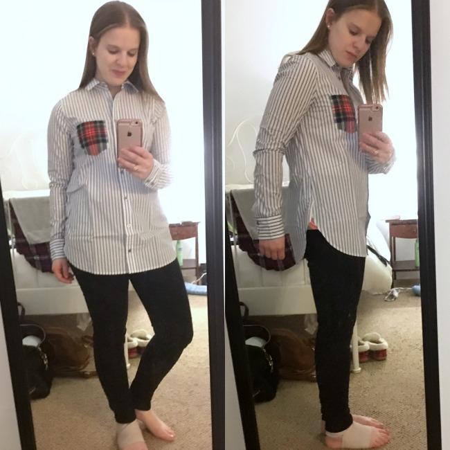 Shopping Reviews, Vol. 38 | Something Good, J.Crew Striped Boy Shirt with Tartan Pocket