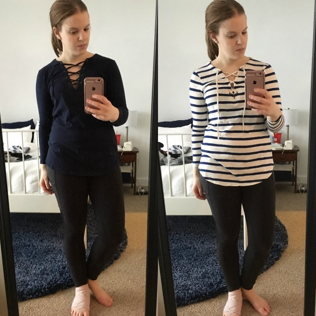 Shopping Reviews, Vol. 37 | Something Good, Relaxed Lace-Up Tee, old navy