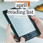 Sunday Book Club: April 2017 Reading List