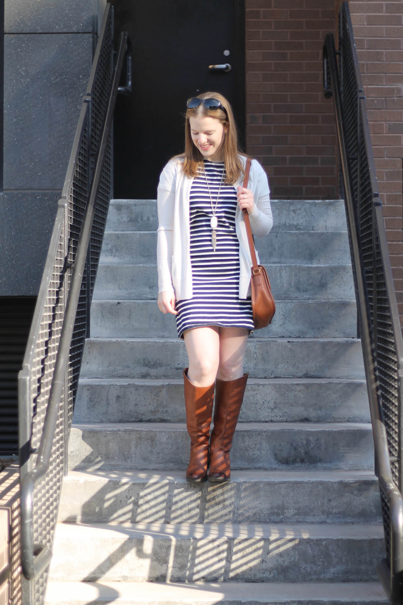 The Everlane Tee Dress | Something Good, striped dress