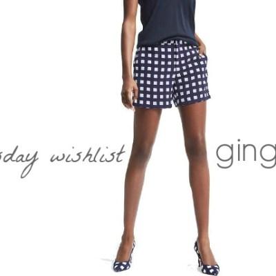 Wednesday Wishlist: Gingham