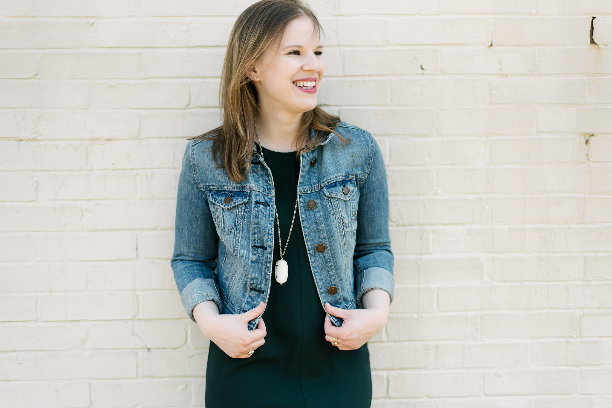The Everlane GoWeave Tank Dress | Something Good, denim jacket, american eagle outfitters, @danaerinw