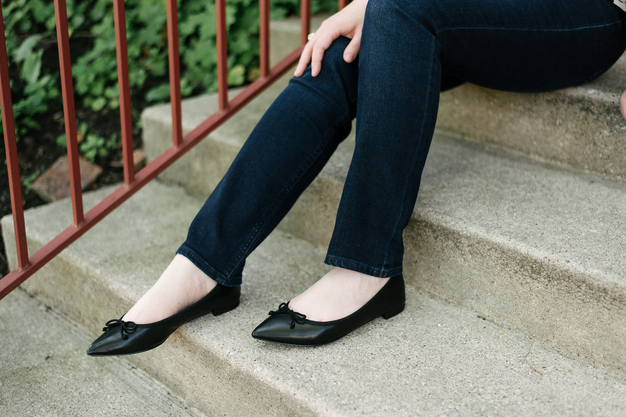 Upgrading My Jeans Collection with Talbots Denim | Something Good, @danaerinw , black ballet flats, shoes, flats,