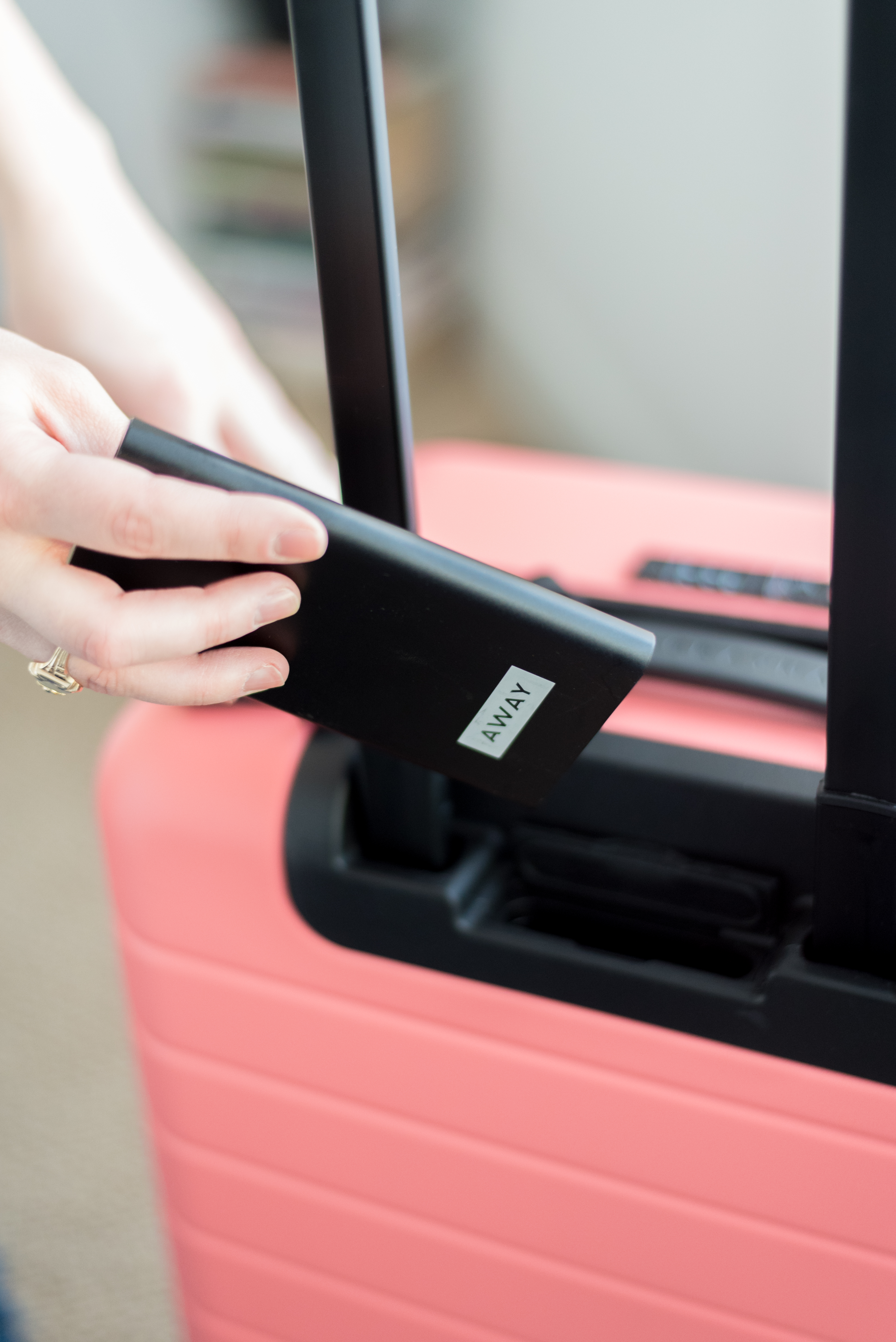 How I Pack My Carry On Suitcase | Something Good, @danaerinw, away built in charger
