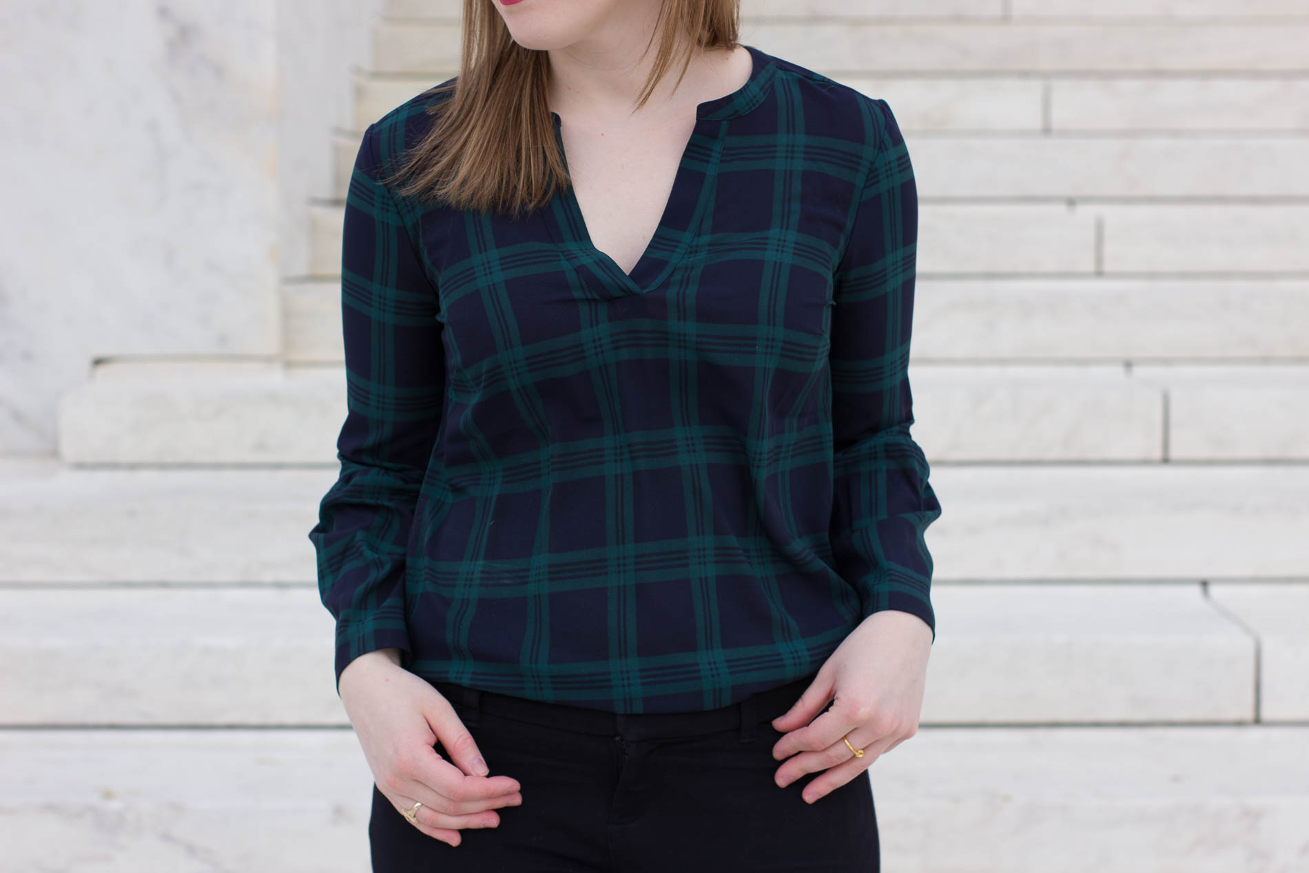 The Office Holiday Party   Something Good, @danaerinw, blackwatch plaid top