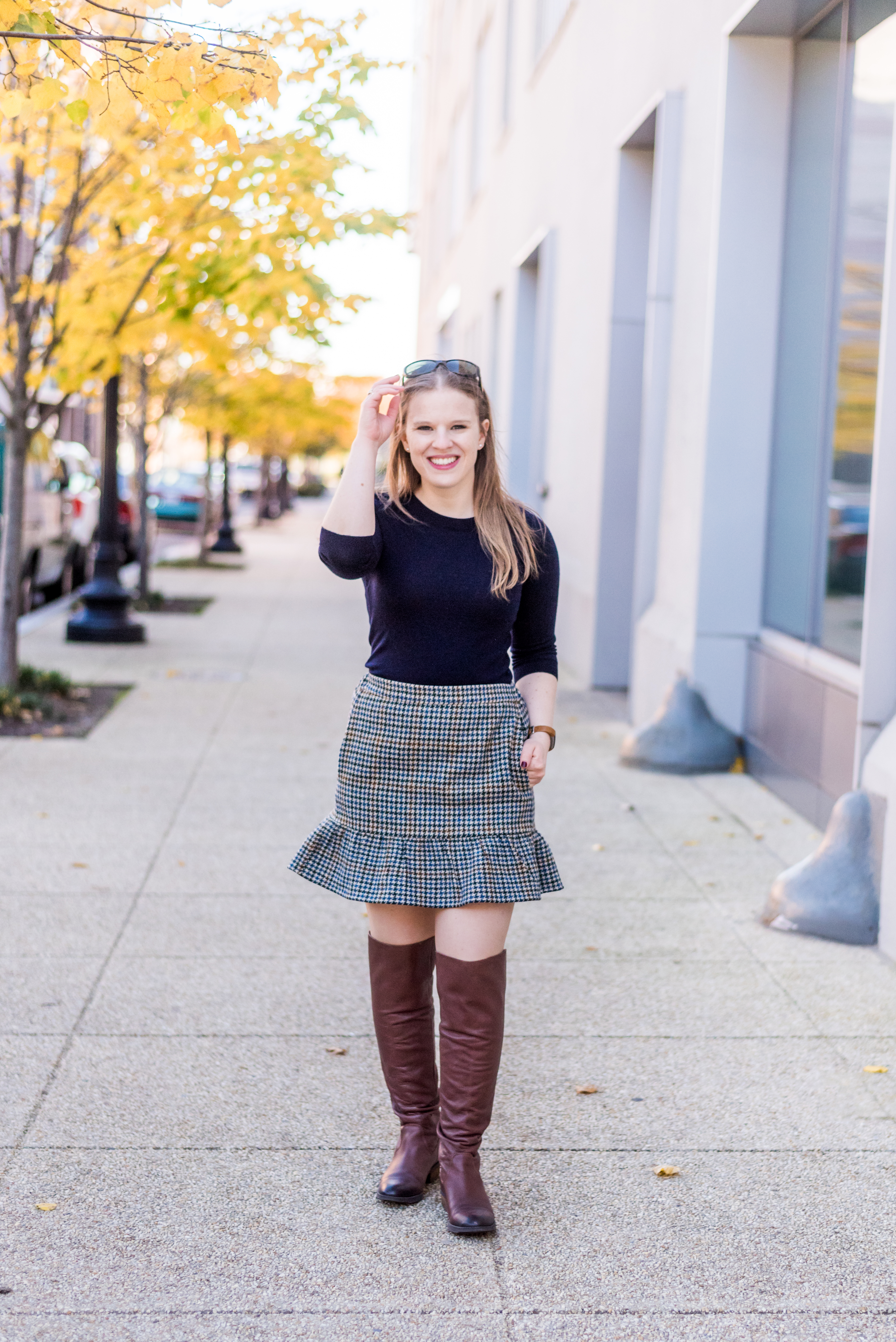 How To Wear Over The Knee Boots With A Skirt Something