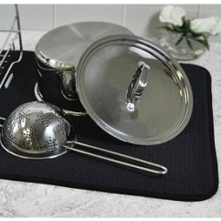 Kitchen Dish Drying Mat Industrial Lighting Envision Home Cream To Hand Wash Dishes Black In 3 Sizes