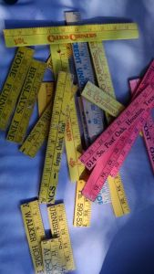 yardstick pieces