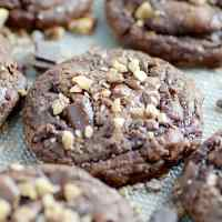 Toffee Chunk Brownie Cookies