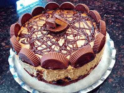 Reese's PB Cup Brownie Bottom Cheesecake