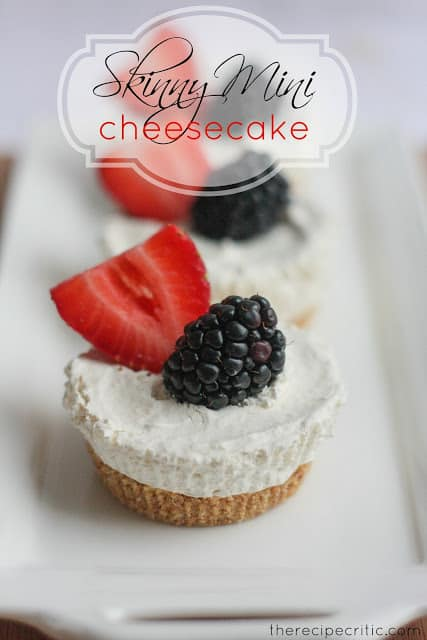 Skinny Mini Cheesecakes
