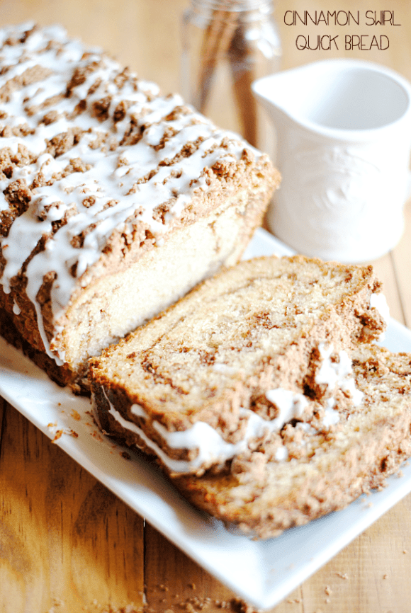 Cinnamon Swirl Quick Bread | www.somethingswanky.com