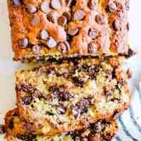 Chocolate Chip Banana Bread - Updated Recipe Card