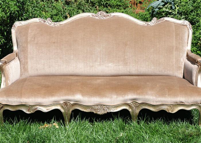 Beige Victorian Sofa