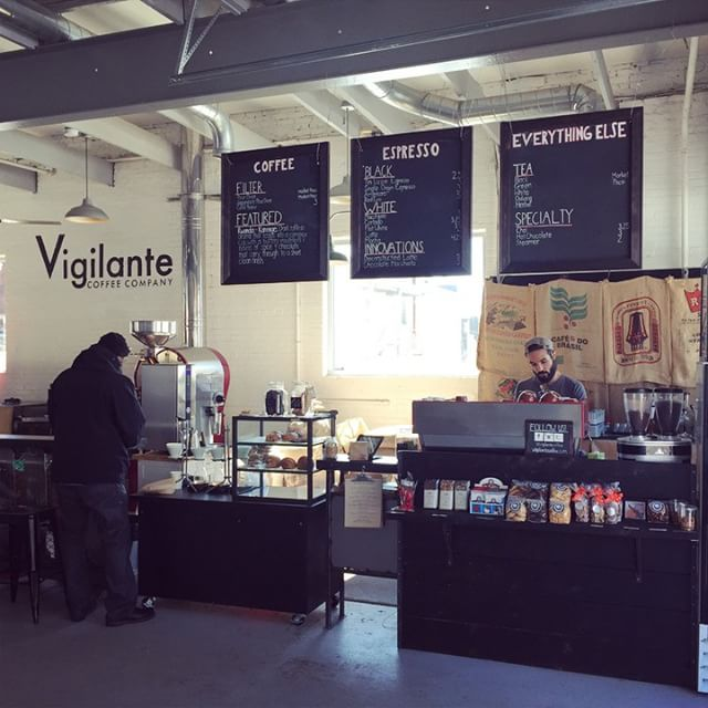 If you haven't tried @vigilantecoffee, I HIGHLY recommend it!  Their flat white is divine! #coffee #industrial #dc
