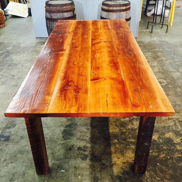 We're selling a handful of our incredible  thick-top reclaimed barn wood tables handmade by Amish craftsmen.  They are $595 each, reduced from $1095 retail.  These beauties won't last long at this price! #aCreativeDC #green #vintagerentals #barnwood #reclaimed #furniturerentals #dc #handmade #build