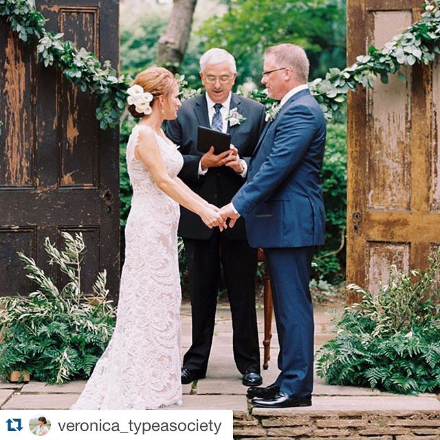 Loving this wedding ceremony by @veronica_typeasociety at #woodendsanctuary in front of our Sweet Root doors.  This makes us so happy! | : @elisabricker #weddingvows #magnoliarouge #magnoliarougemagazine #weddingceremony #vintage #vintagerentals #antique #reclaimed #acreativedc #dc #dcevents #mdwedding