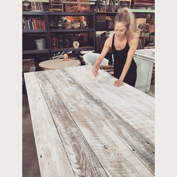 Getting ready to sport our whites this Memorial Day  with some new #reclaimed wood beauties!! These are for you @heirloomdc !
