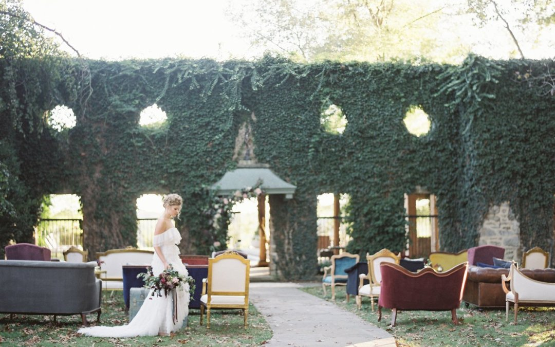 Local Artisans Dusty Gemstones Wedding Editorial    Goodstone Inn, Middleburg VA