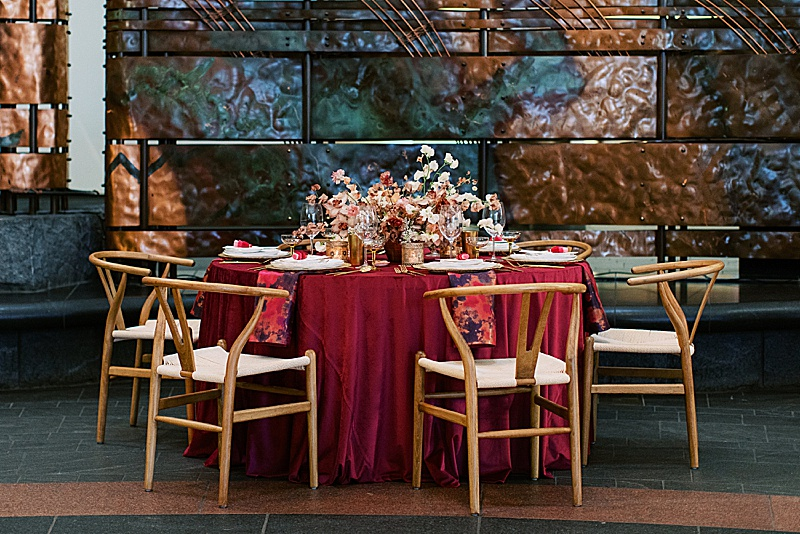 A Modern Sunset Inspired Wedding Editorial || National Museum of the American Indian