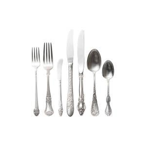 The Delilah: Vintage Silver-Plated Flatware Set
