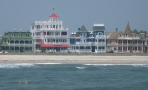 Victorian Cape May from the Atlantic Ocean