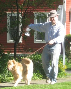 Getting rid of Golden Retriever poop after a walk