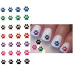 Pawprint nail decals from Animal Rescue.