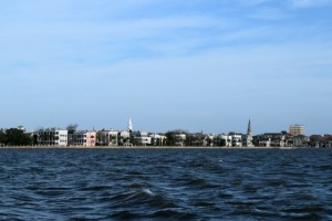 Charleston battery from the water.
