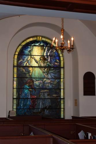 Tiffany glass church window in Charleston.