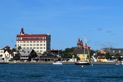 St Augustine, the dog-friendly city, from the Matanzas River.