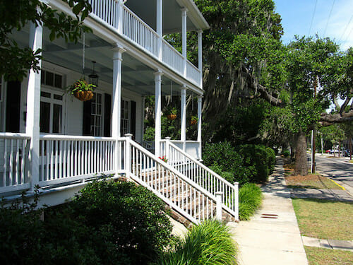 Shaded porch in Beaufort.
