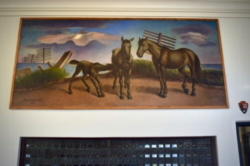 Learn about the wrong way to train your dog with treats.(Shackleford Horses painting.)