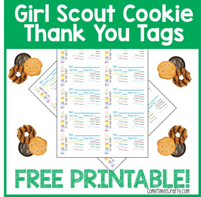 girl scout cookie thank