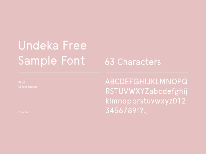 Freebie Tuesday – 10th of April – Undeka Font • SomeWhat