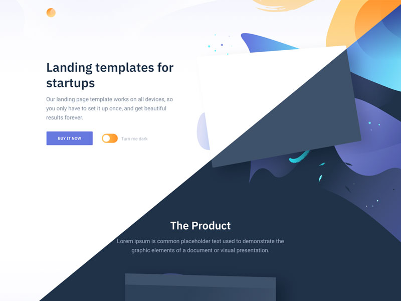 Html Landing Page Template For Startups