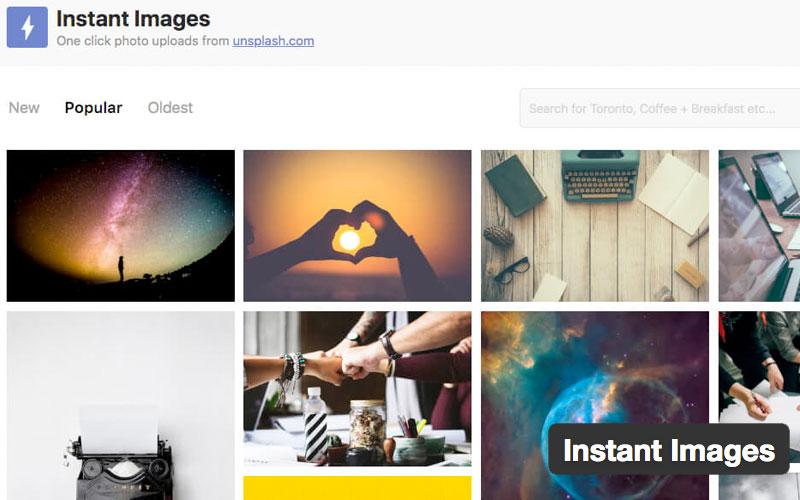 Instant Images One Click Unsplash Uploads