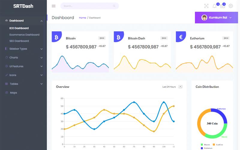 SRTdash Bootstrap Admin