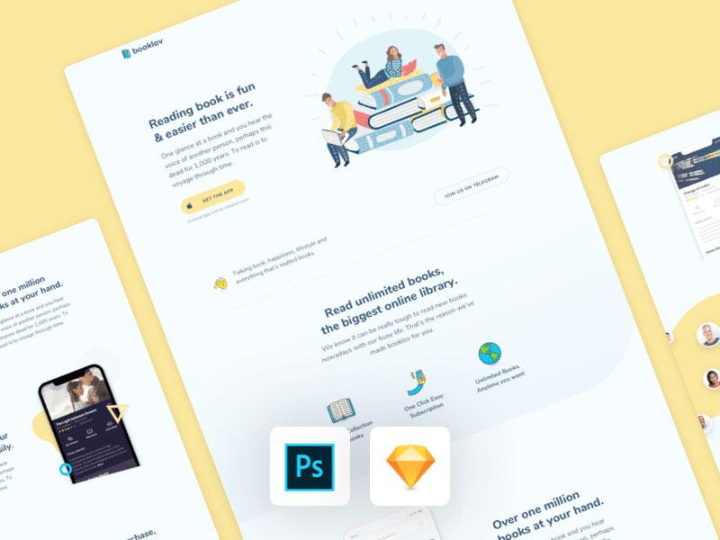 Booklov Free App Landing Page