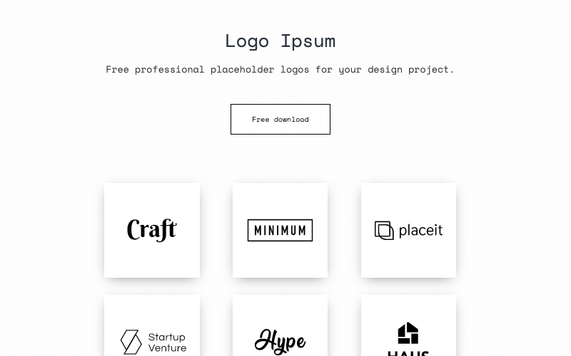 Logo Ipsum Placehololder Logos For Your Design Project