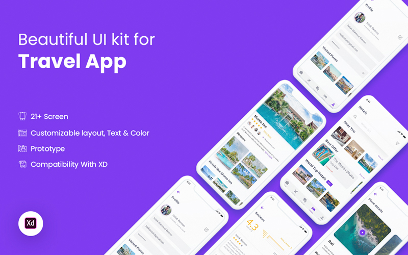 Travel App Ios Ui Kit