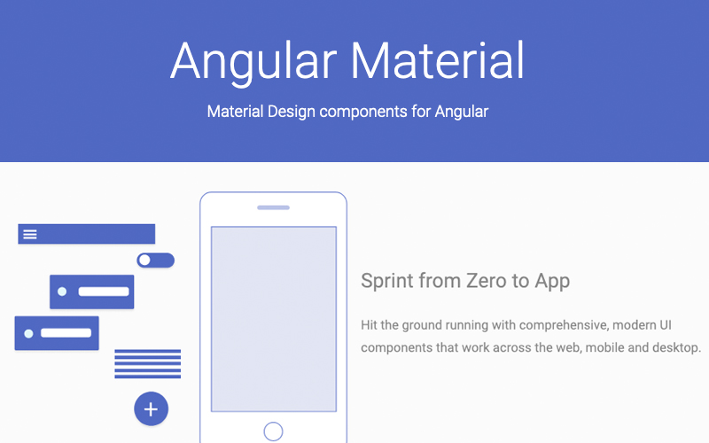 Angular Material Design Components For Angular