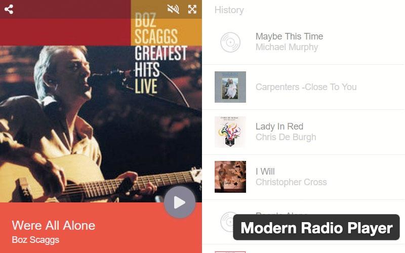 Modern Radio Player WordPress Plugin
