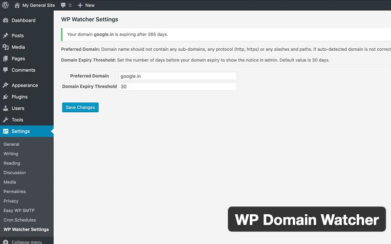 Wp Domain Watcher
