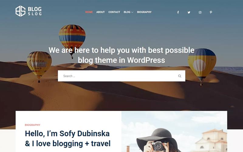 Blogslog WordPress Free Theme