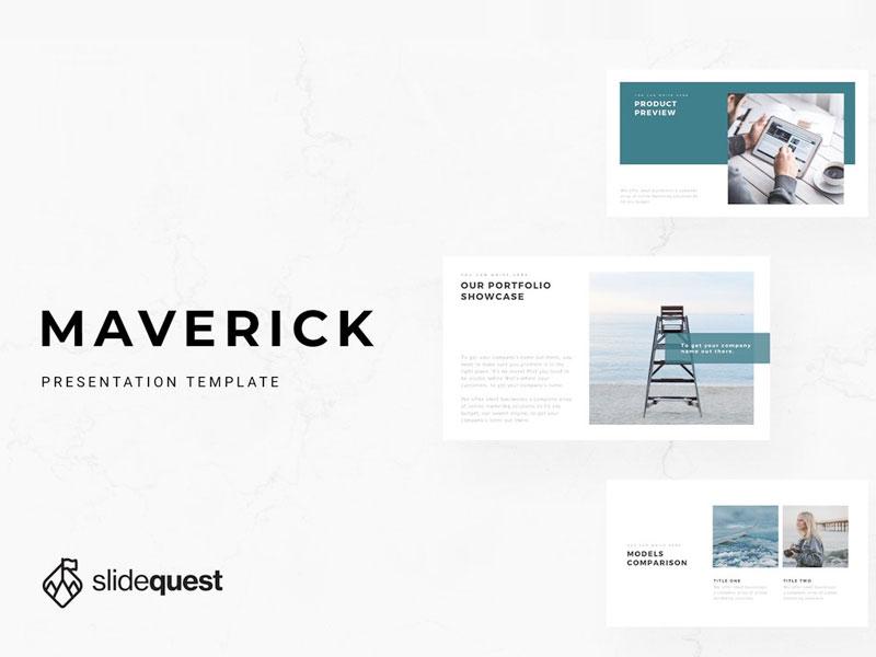 Maverick Free Minimal Presentation Template