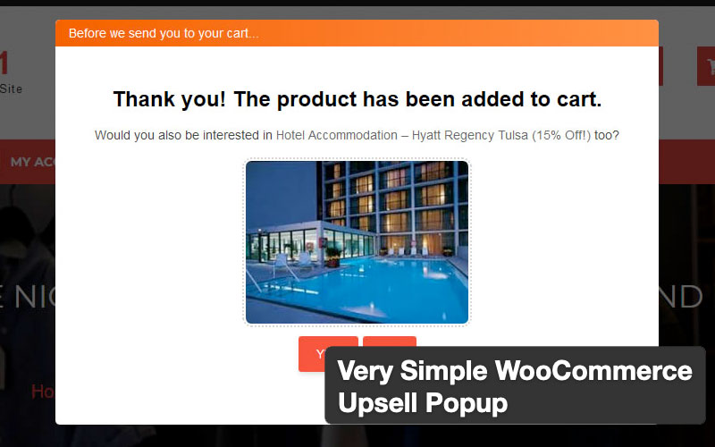 Very Simple Woocommerce Upsell Popup