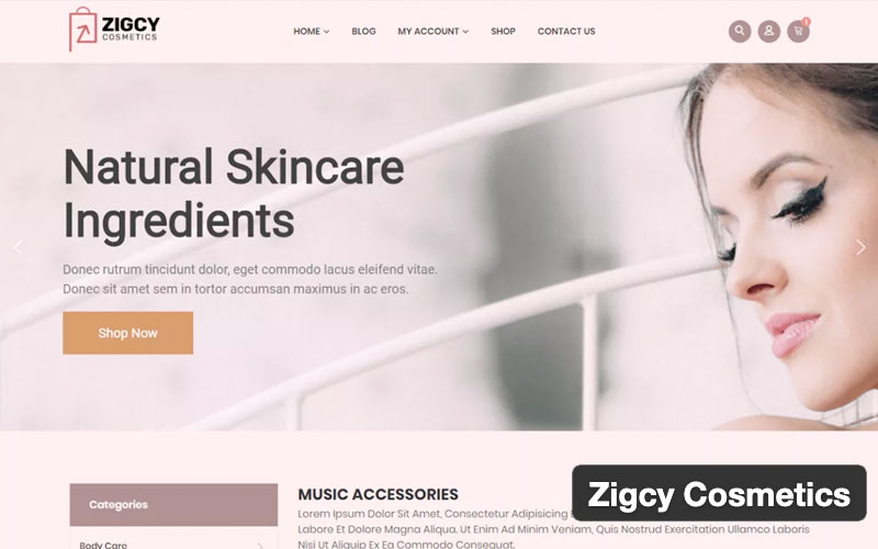 Zigcy Cosmetics Woocommerce Theme