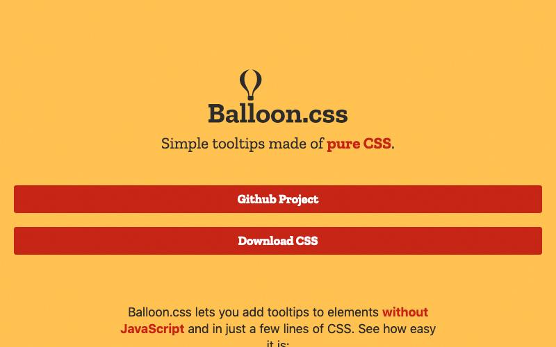 Balloon Css