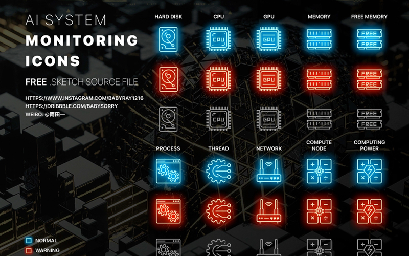 Ai System Monitoring Icons